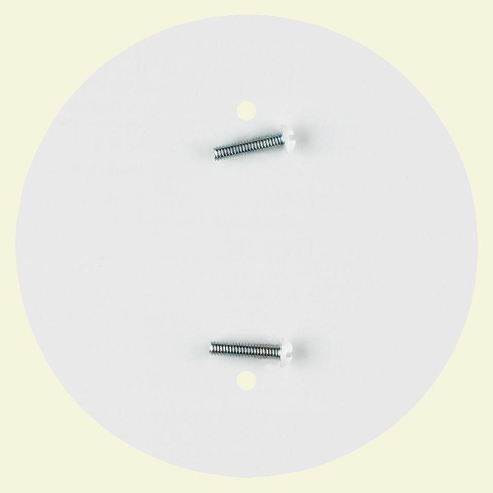 Commercial Electric 4-3/4 in  White Ceiling Outlet Concealer-81915