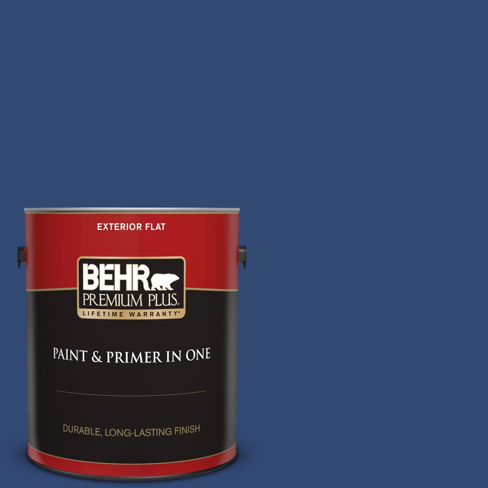 S H 580 Navy Blue Flat Exterior Paint And Primer In One