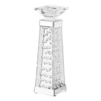 Emory 4 in. Crystal Candle Holder Clear Finish