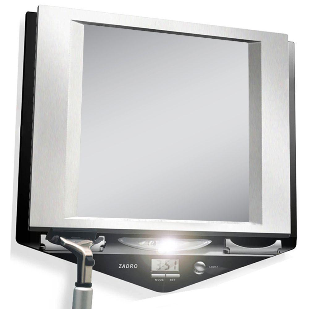 Zadro 9 in. x 9 in. Fog-Free Lighted Shaving Mirror in St...