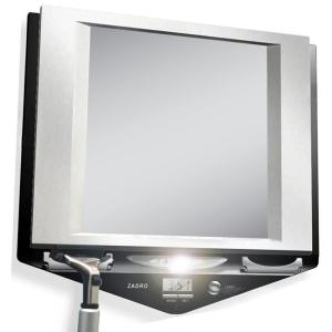 Zadro 9 inch x 9 inch Fog-Free Lighted Shaving Mirror in Stainless Steel and Black by Zadro