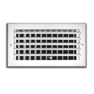 12 in. x 6 in. 1 Way Adjustable Curved Blade Wall/Ceiling Register