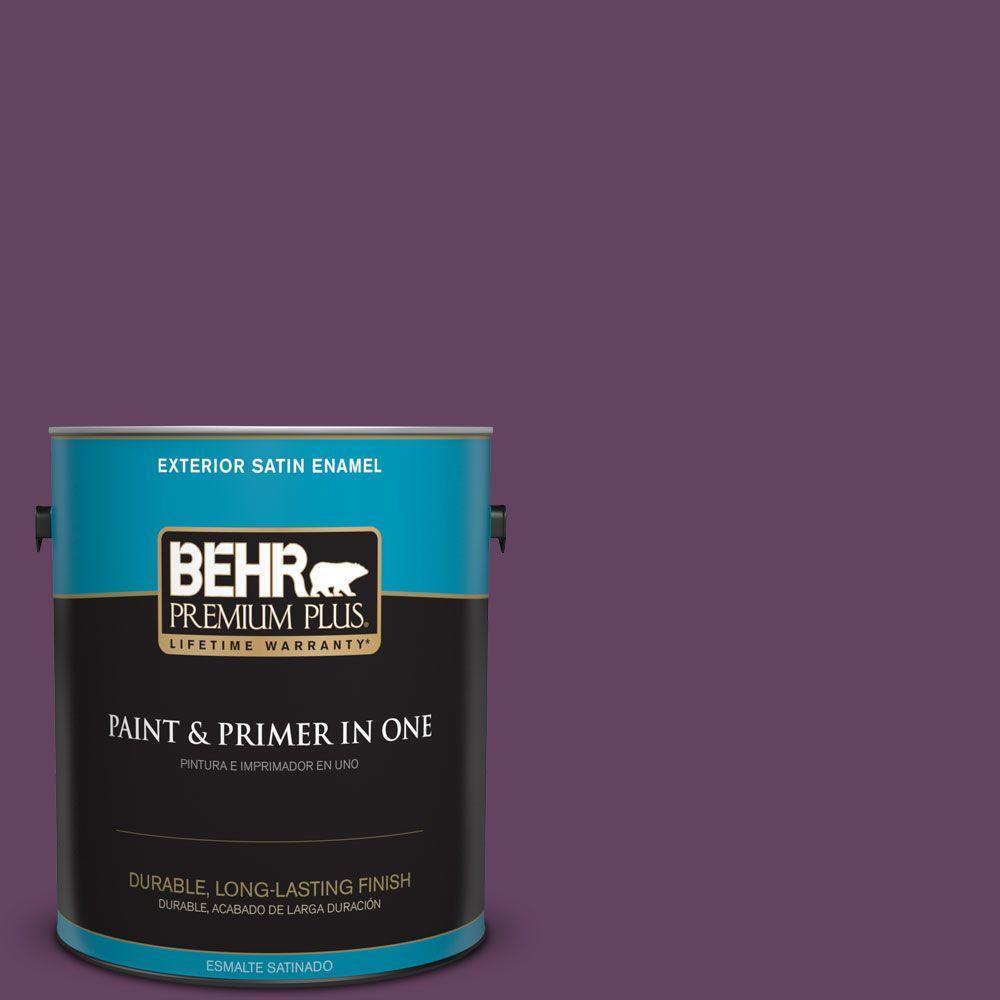 1-gal. #BIC-36 Grape Fizz Satin Enamel Exterior Paint