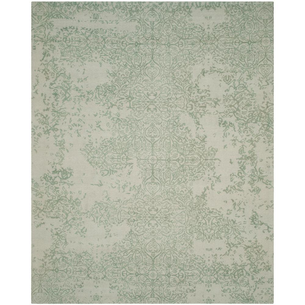 Florida Gray Turquoise Area Rug: Safavieh Restoration Vintage Gray/Turquoise 8 Ft. X 10 Ft