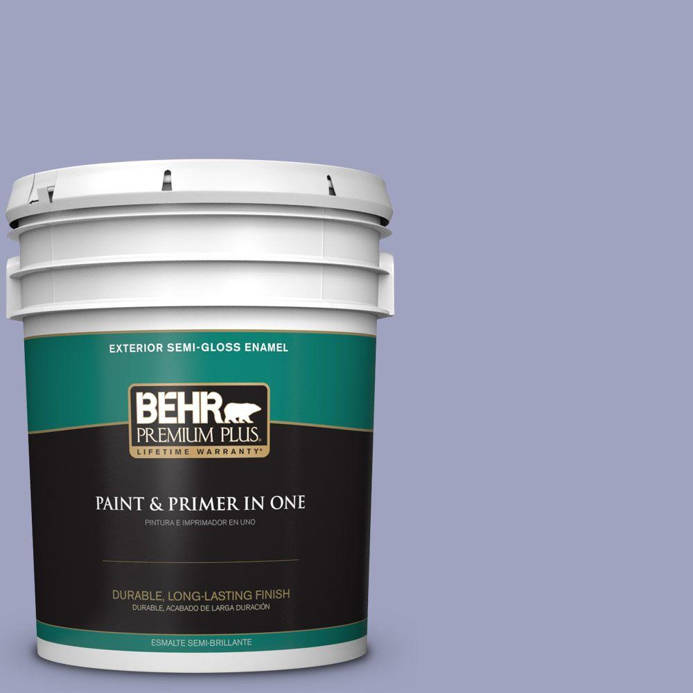 BEHR Premium Plus 5-gal. #620D-4 Veranda Iris Semi-Gloss Enamel Exterior Paint