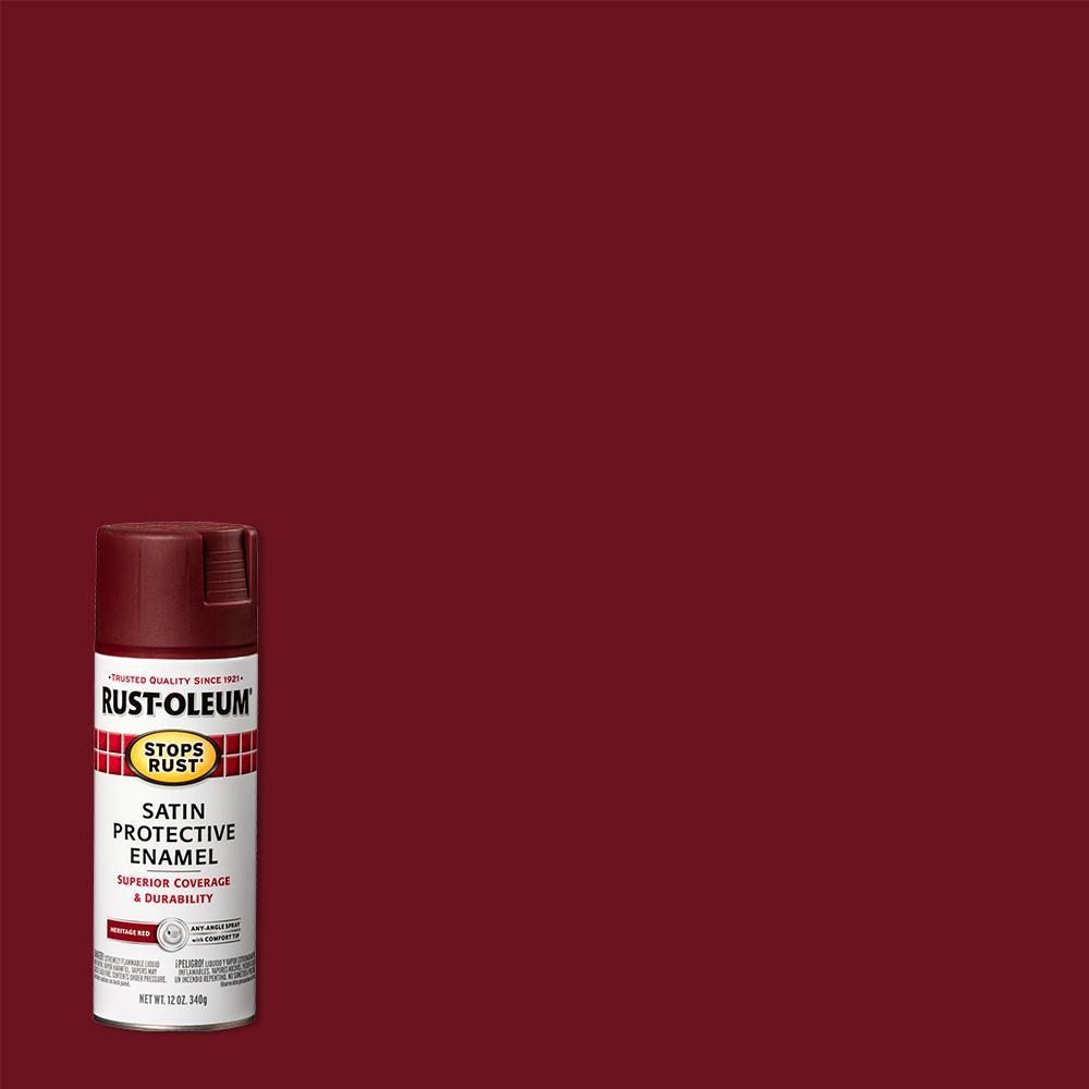 12 oz. Protective Enamel Satin Heritage Red Spray Paint