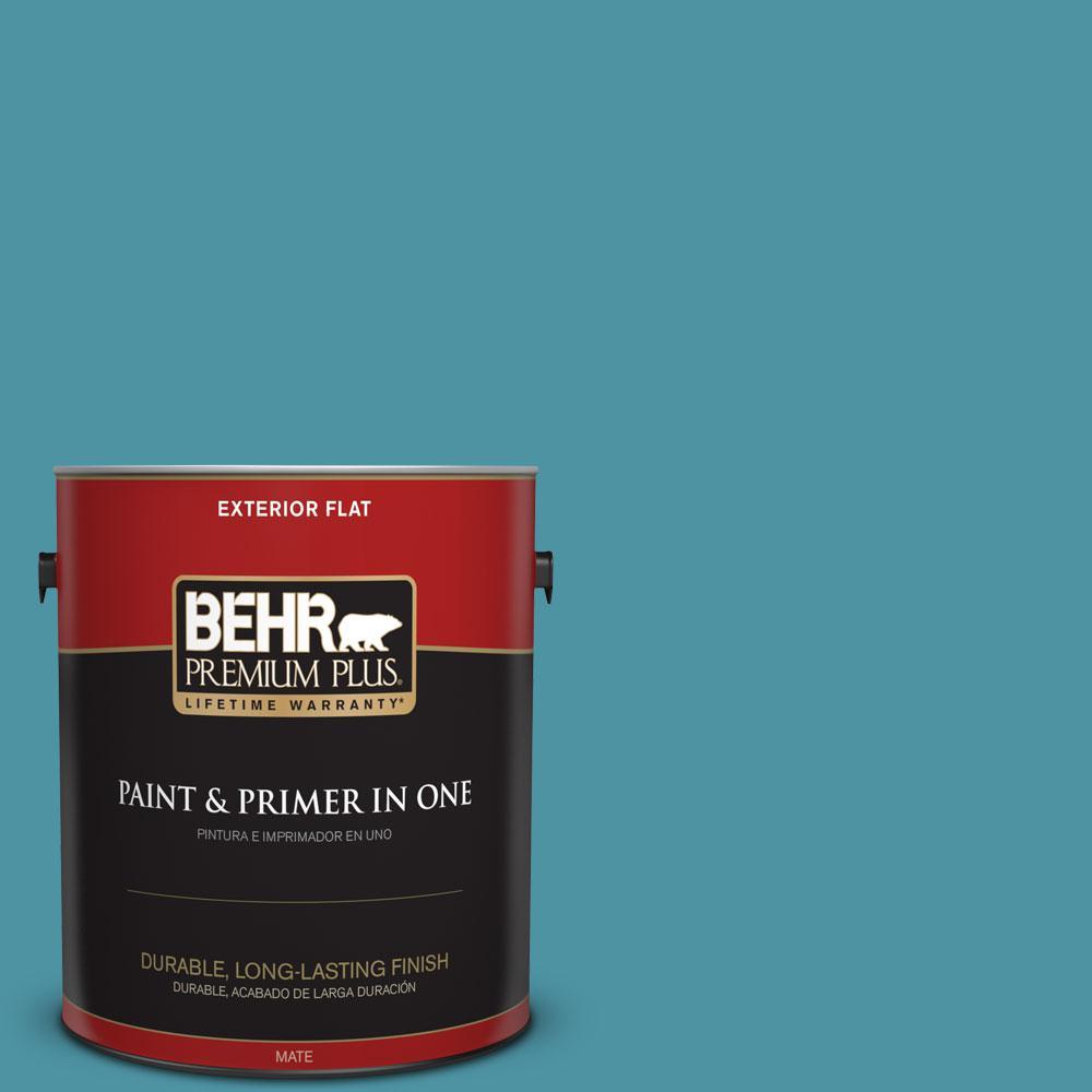 1-gal. #530D-6 Teal Bayou Flat Exterior Paint