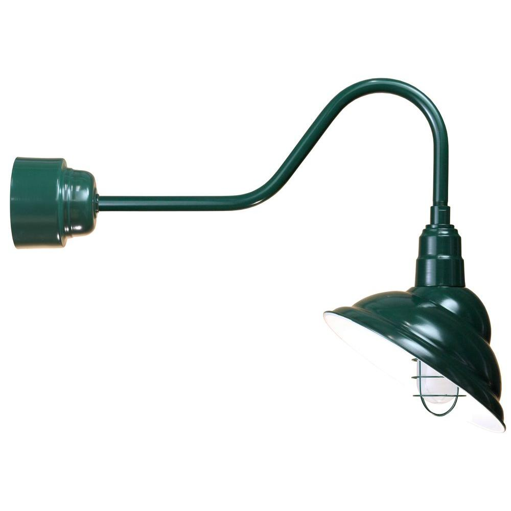 Illumine 1 light outdoor green wall lantern with wire guard cli 253 illumine 1 light outdoor green wall lantern with wire guard cli 253 the home depot arubaitofo Images
