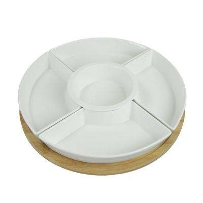 Lazy Susan Appetizer and Condiment Server Set