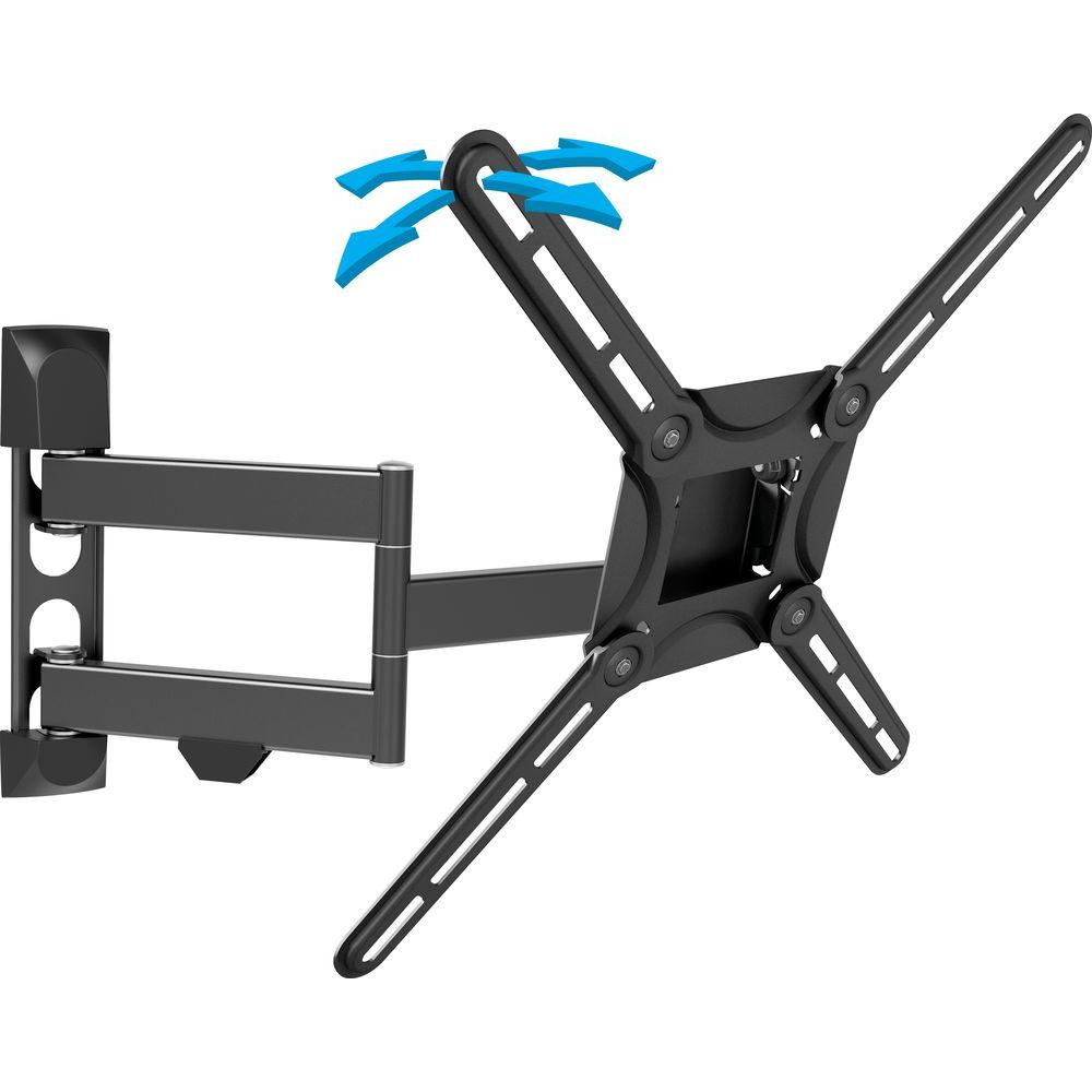 Full Motion Curved/Flat Panel Dual Arm TV Wall Mount for 29