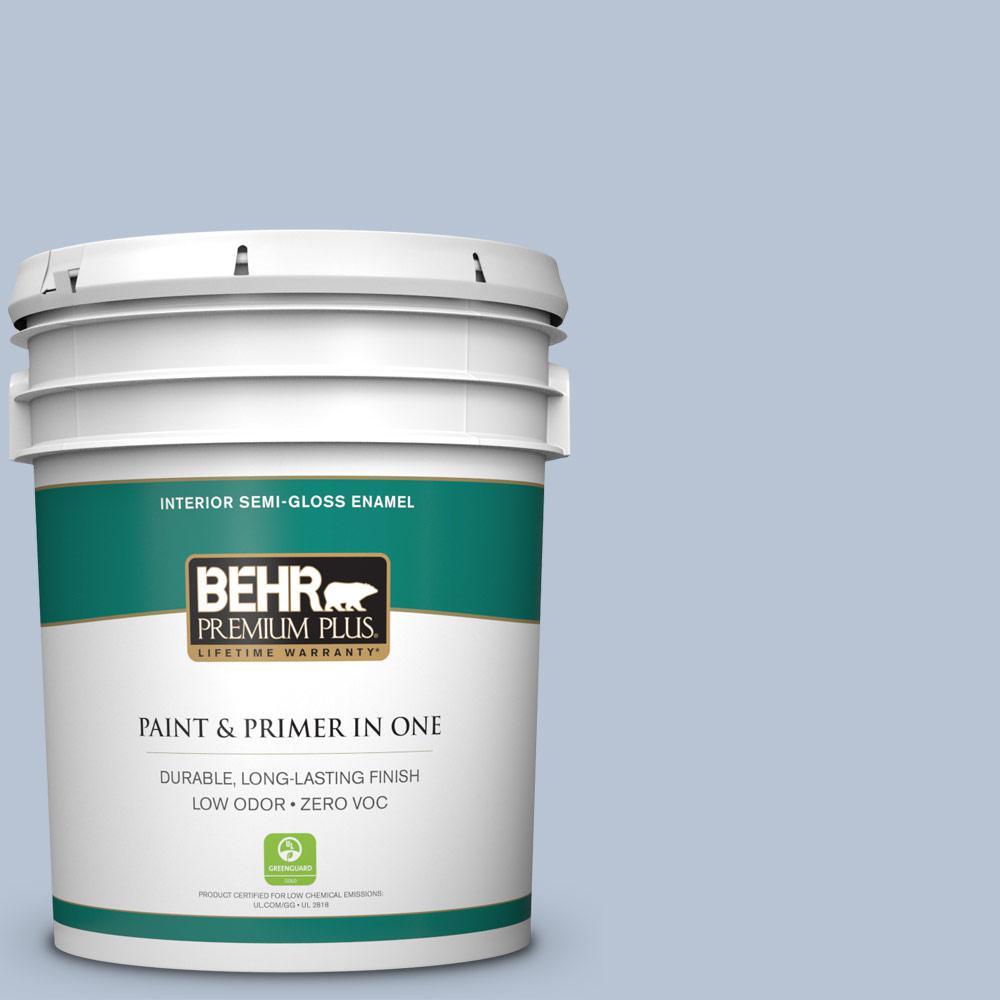 5-gal. #590E-3 Hyacinth Tint Zero VOC Semi-Gloss Enamel Interior Paint