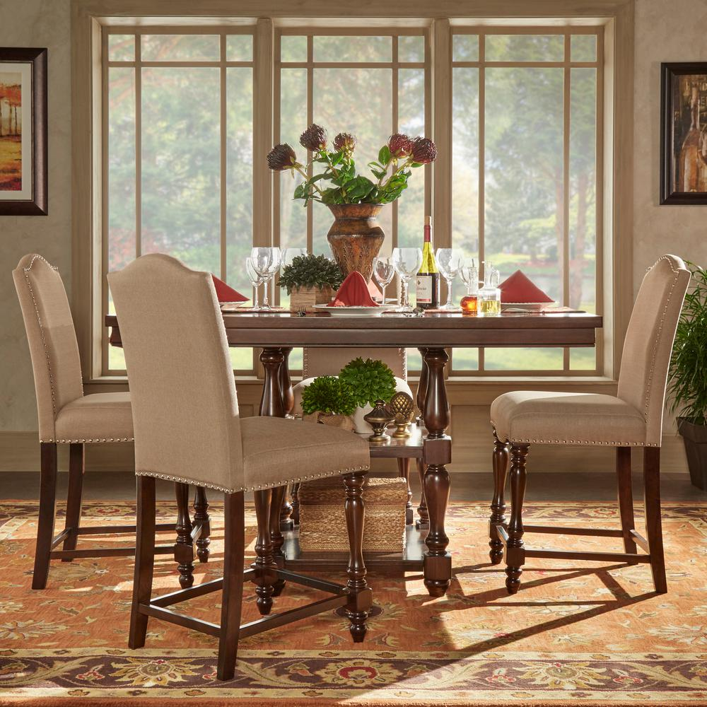 Homesullivan madison 5 piece sand beige counter height dining set