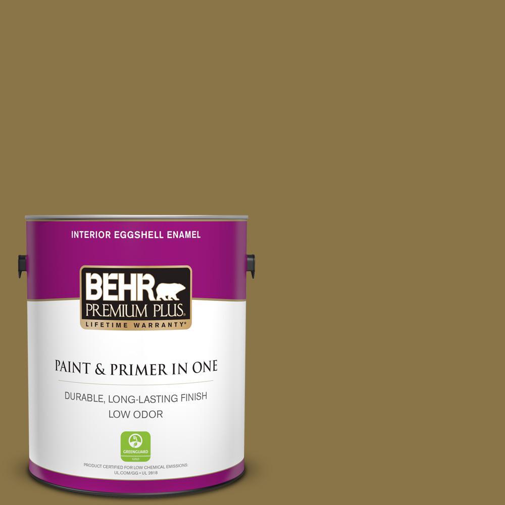 Behr Premium Plus 1 Gal Ppu6 20 Eden Prairie Eggshell Enamel Low