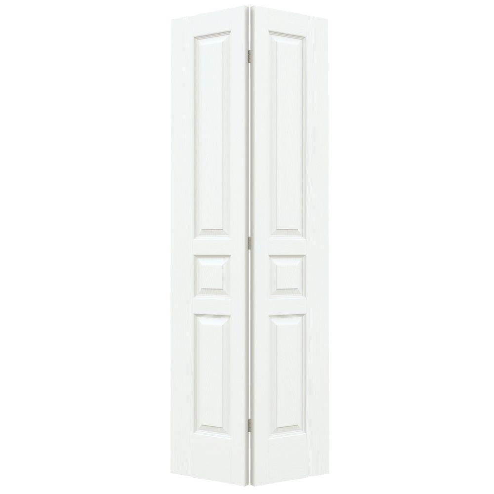 30 in. x 80 in. Avalon White Painted Textured Hollow Core