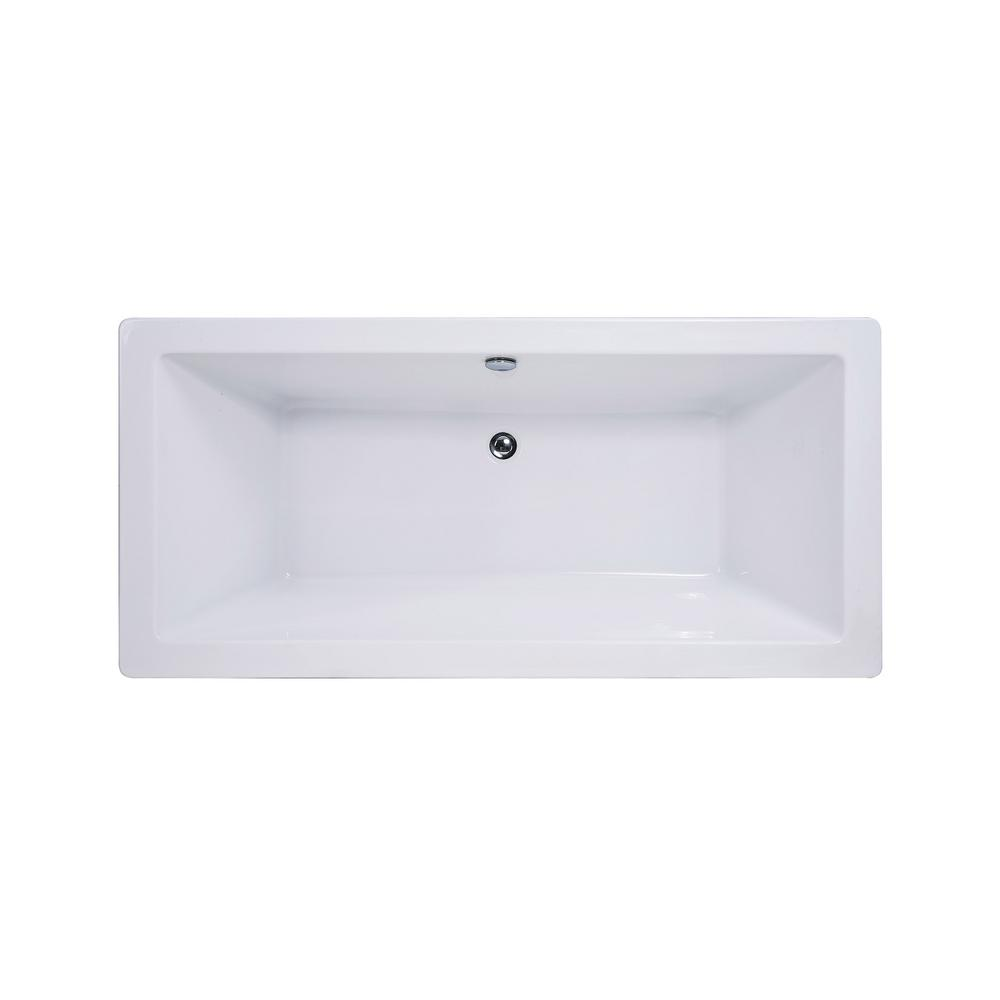 Universal Tubs Pearl 5.6 ft. Acrylic Center Drain Flatbottom ...
