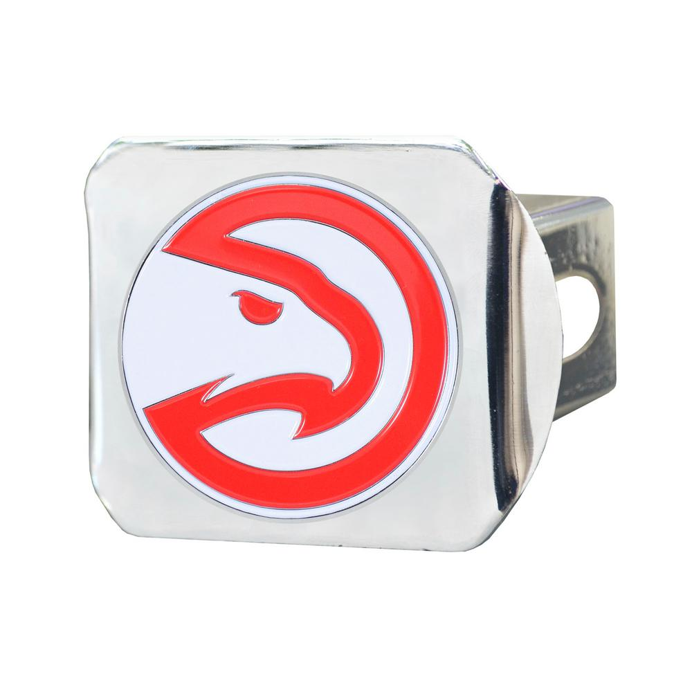 FANMATS NBA Atlanta Hawks Color Emblem on Chrome Hitch Cover