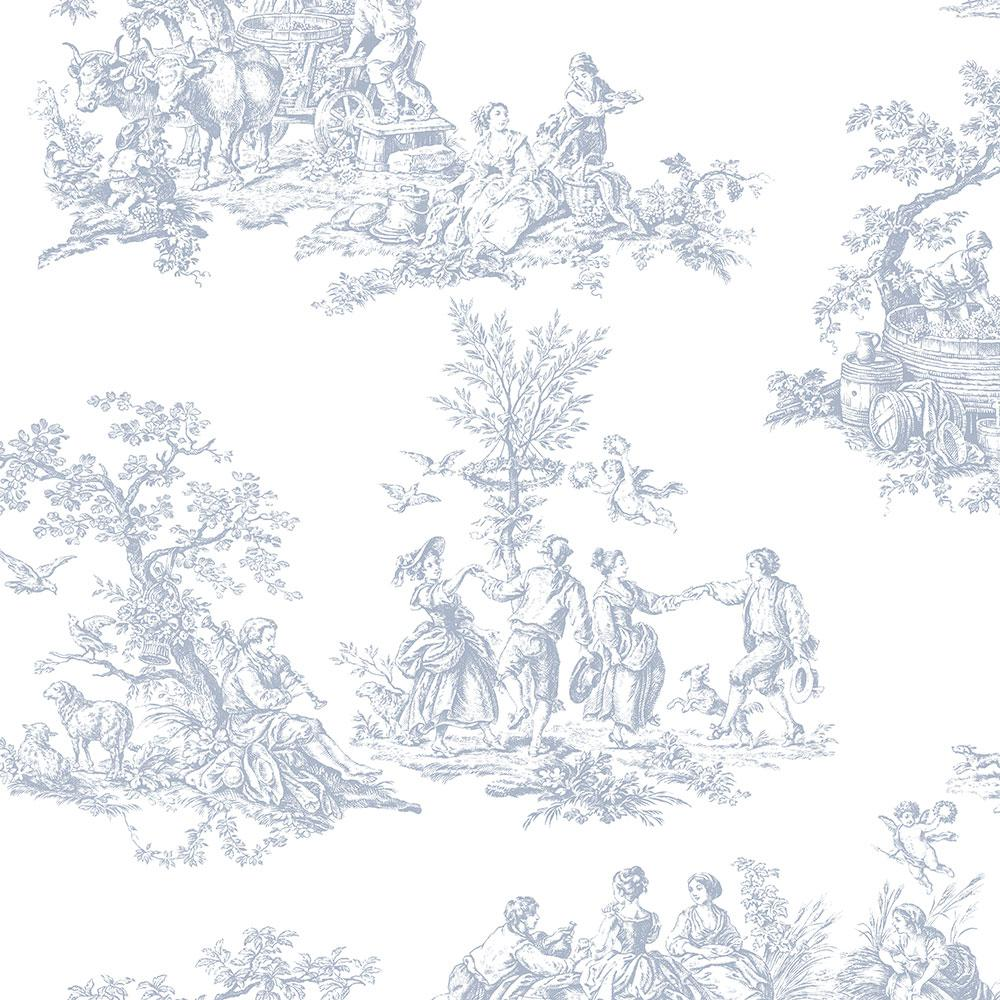 Norwall Romantic Toile Wallpaper Ch22510 The Home Depot