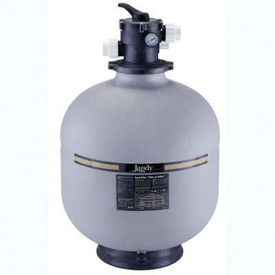 25 in. Top Mount In Ground Pool Sand Filter Tank with Valve