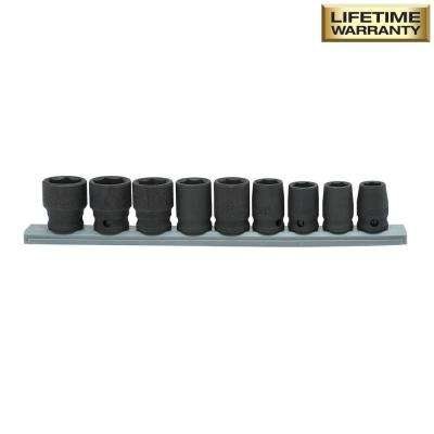 3/8 in. Drive Standard Metric Impact Socket Set (9-Piece)