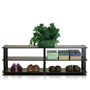 Turn-S-Tube Dark Brown 3-Shelf Wide Multipurpose Rack