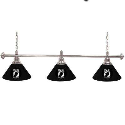 POW 3-Light Black Billiard Lamp