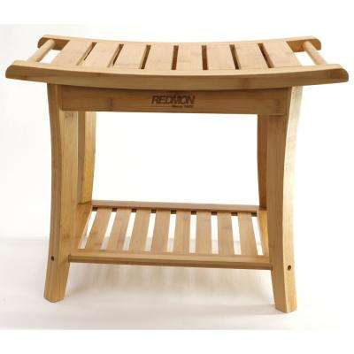 Bamboo Shower Bench with Side Handles