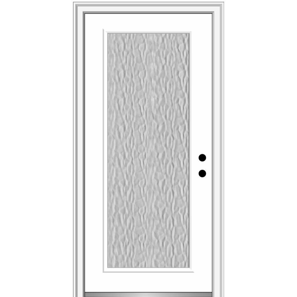 Mmi Door Vapor 32 In X 80 In Left Hand Inswing Full Lite Primed Fiberglass Prehung Front Door With 4 9 16 In Frame Z0372991l The Home Depot