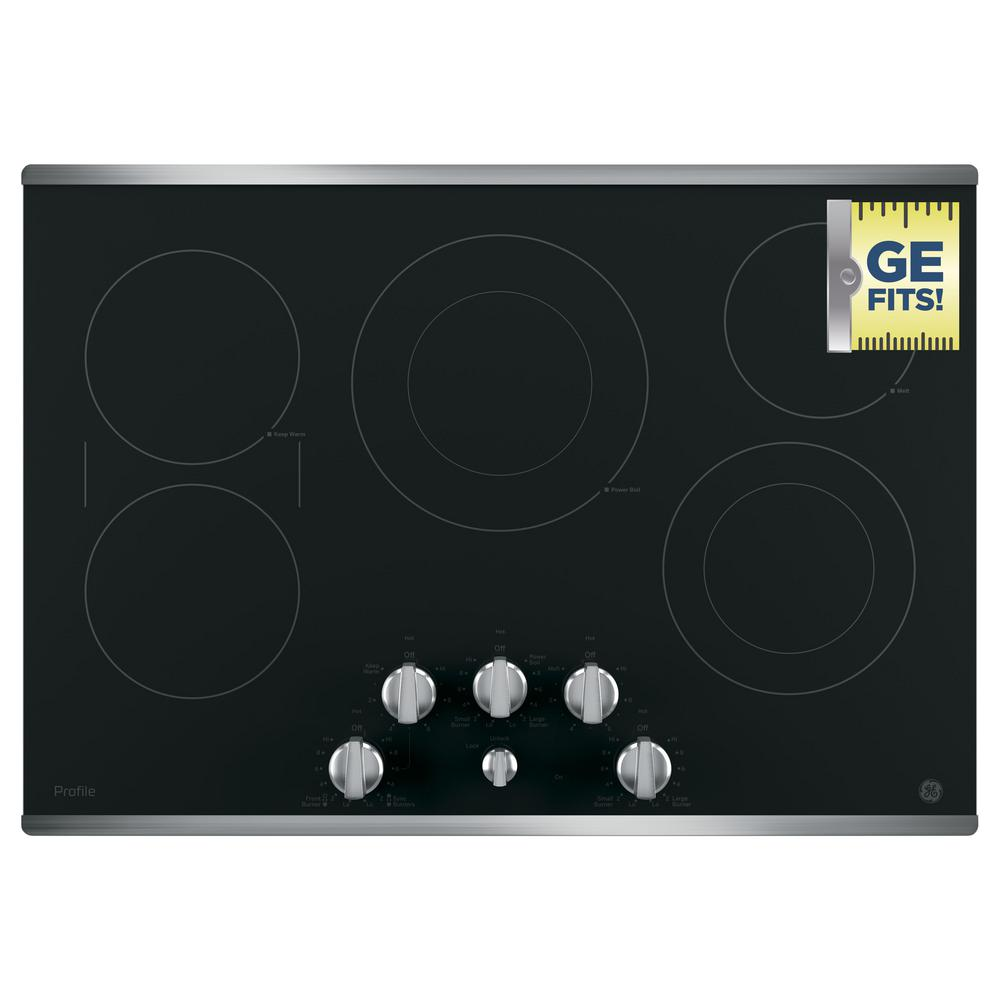 Ge Profile 30 In Radiant Electric Cooktop In Stainless