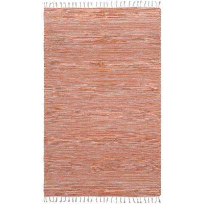 Orange Chenille 10 ft. x 14 ft. Area Rug