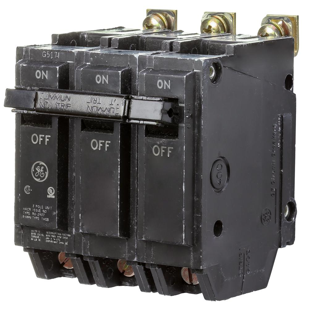 3 POLE 240 VAC 60 AMP NEW GE CIRCUIT BREAKER THQB32060 BOLT ON TYPE