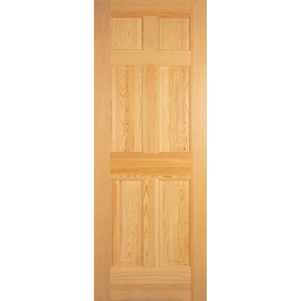 30 x 80 6 panel prehung doors interior closet - Home depot 6 panel interior doors ...