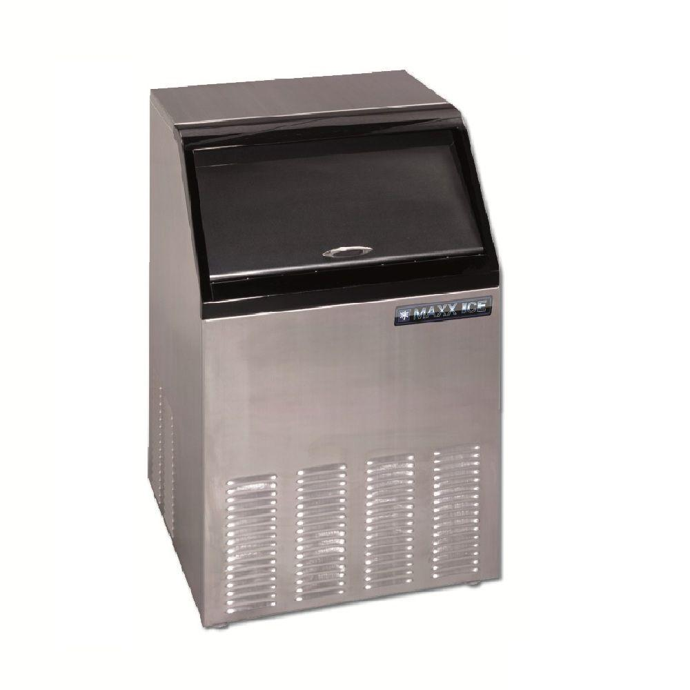 Maxx Ice 100 lb. Freestanding Icemaker in Stainless Steel