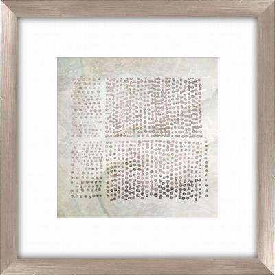 "20-1/2 in. x 20-1/2 in. ""Tribal Etched Lines B"" Framed Wall Art"