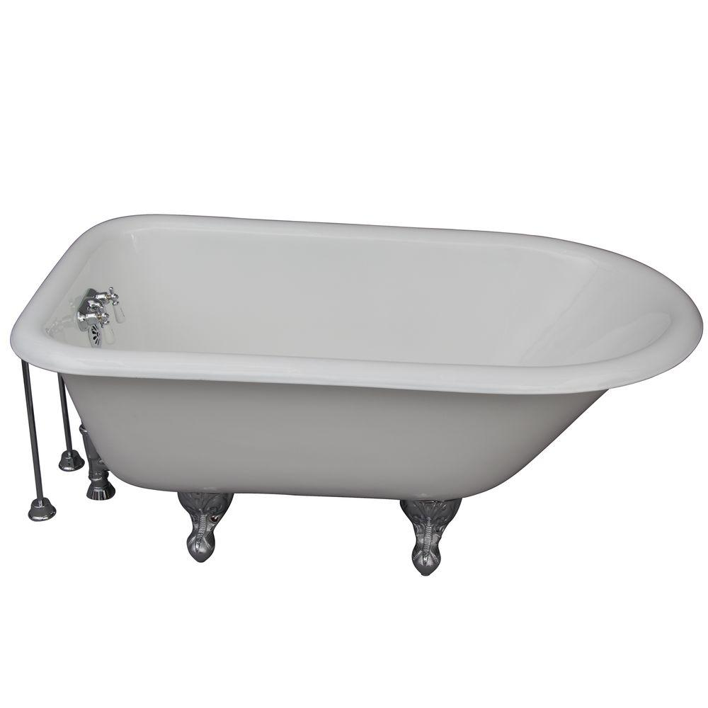 Barclay products 4 5 ft cast iron ball and claw feet roll for 4 foot bath tub