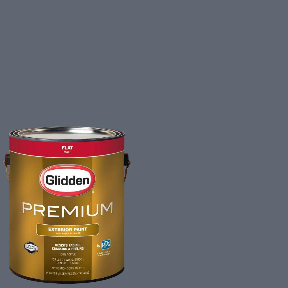 Hdgcn47 Blue Grey Slate Flat Latex Exterior Paint