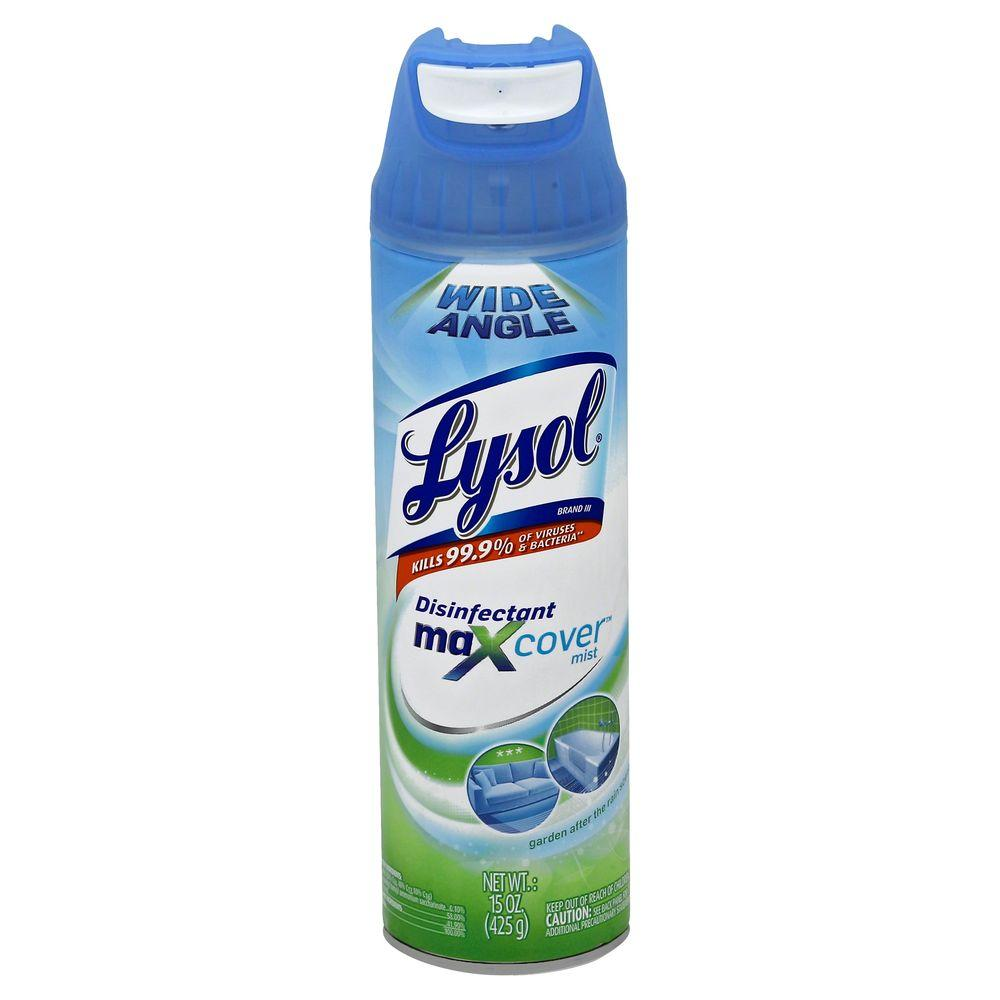 lysol 15 oz garden rain scent max cover disinfectant spray 19200