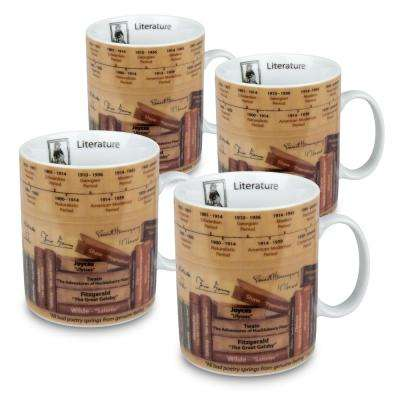 Konitz 4-Piece Mug of Knowledge Literature Porcelain Mug Set