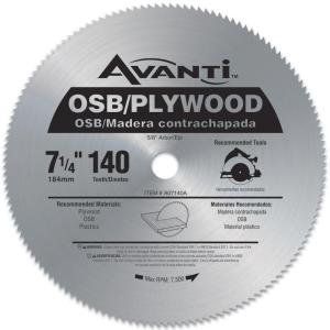Avanti 7-1/4 inch x 140-Teeth OSB/Plywood Saw Blade by Avanti