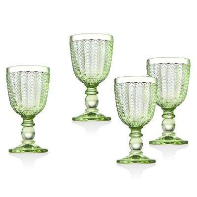 Twill 6 oz. Green Crystal White Wines (Set of 4)
