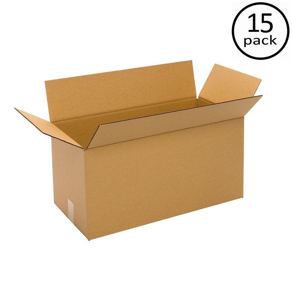 Plain Brown Box 24 in. x 14 in. x 14 in. 15 Moving Box Bundle