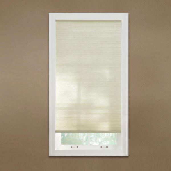 Parchment 9/16 in. Cordless Light Filtering Cellular Shade - 32 in. W x 64 in. L(Actual Size 31.625 in. W x 64 in.L)