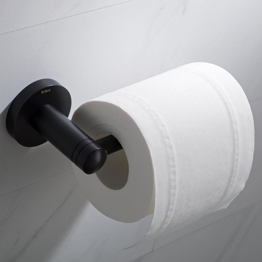 Elie Bathroom Toilet Paper Holder in Matte Black