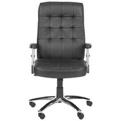 Olga Black and Black Leather Office Chair