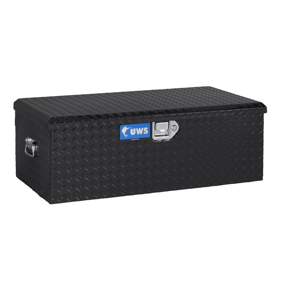 Aluminum Foot Locker Black with Storage Box