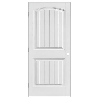 32 in. x 80 in. Cheyenne 2-Panel Camber Top Plank Hollow-Core Smooth Primed Composite Single Prehung Interior Door