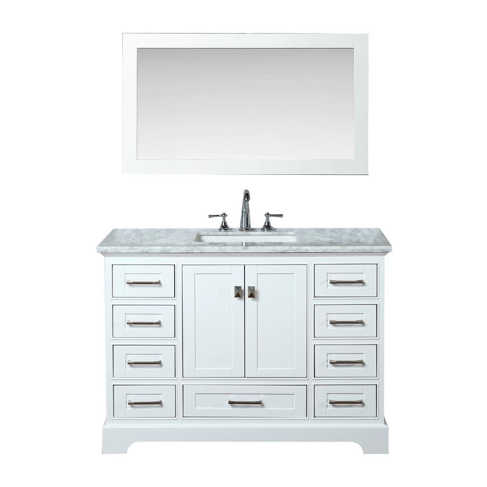 48 vanity mirror 6 double sink stufurhome newport 48 in 22 vanity in white with marble