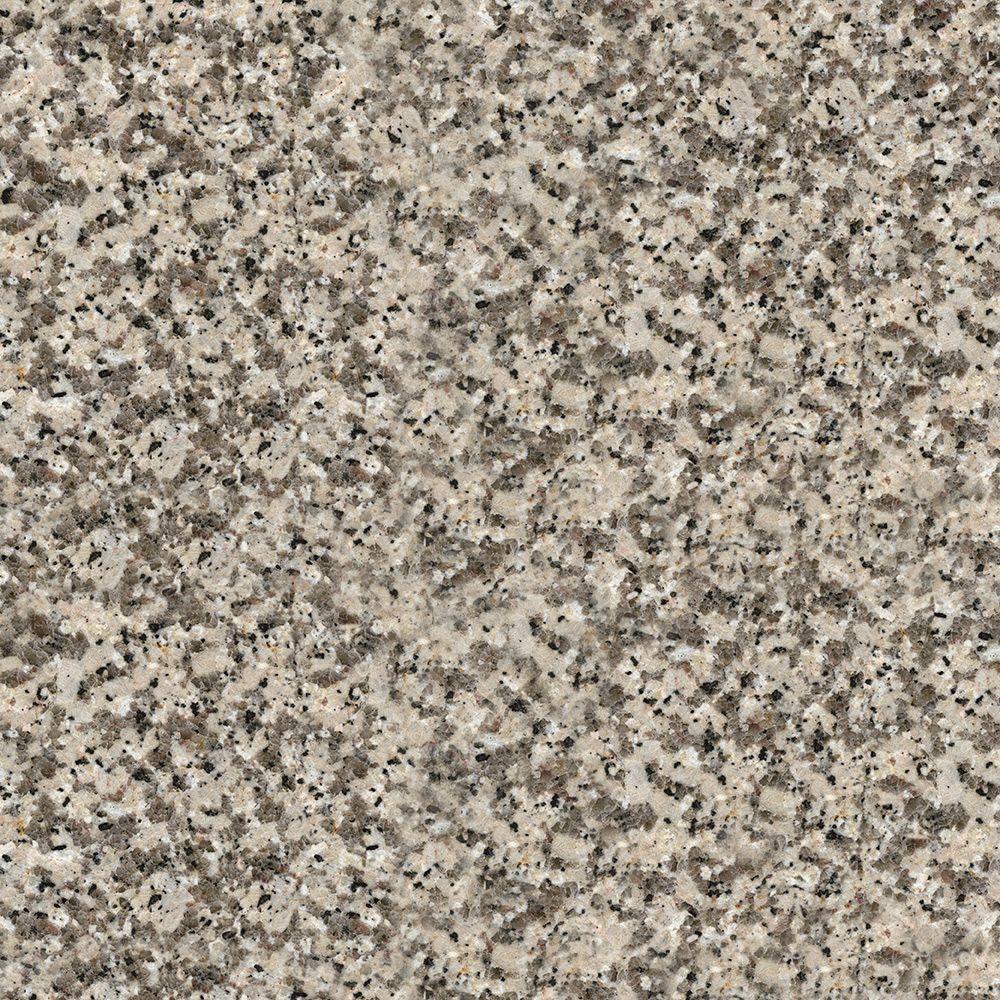 4 in. x 4 in. Natural Granite Countertop Sample in Crema Caramel
