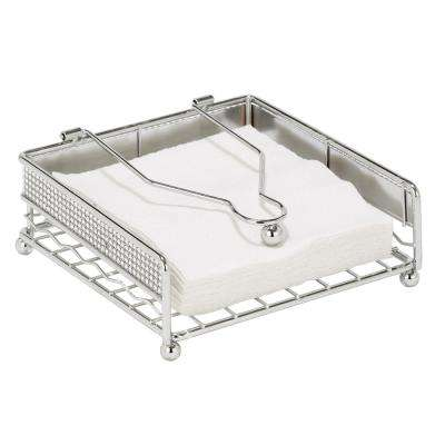 Chrome Napkin Holder in Pave Diamond