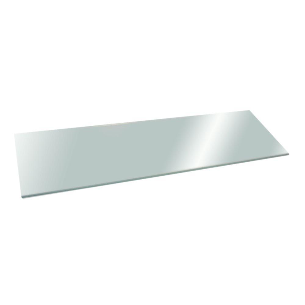 Glacier 24 in. x 12 in. Opaque Glass Shelf