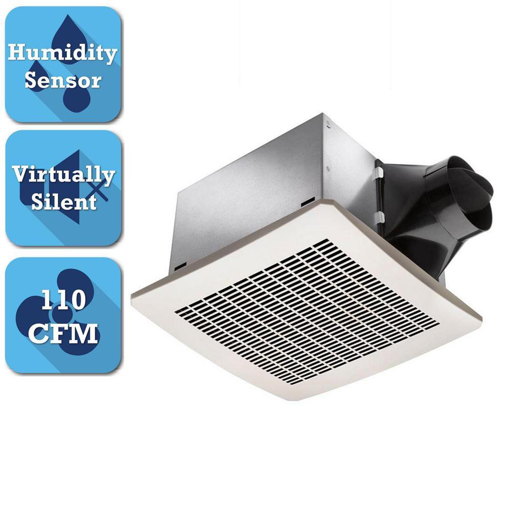 delta breez signature 110 cfm ceiling humidity sensing bathroom exhaust fan